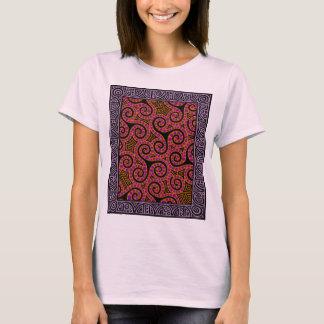 Mauve Spirals x3 T-Shirt