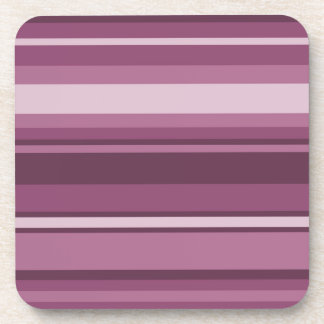 Mauve stripes drink coaster