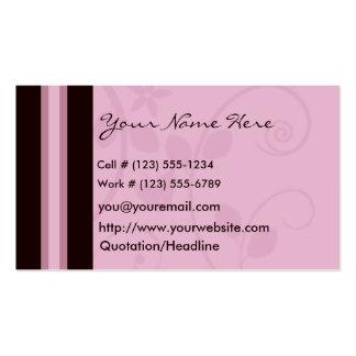 Mauve Swirl Profile And Business Card