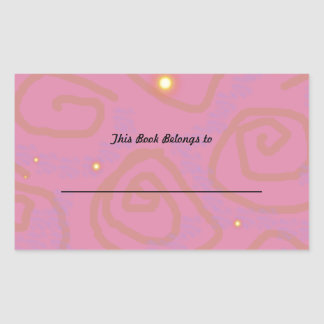 Mauve Swirl Rectangular Sticker