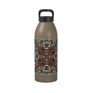 Mauve Taupe Sea Foam Nouveau Deco Pattern Drinking Bottle