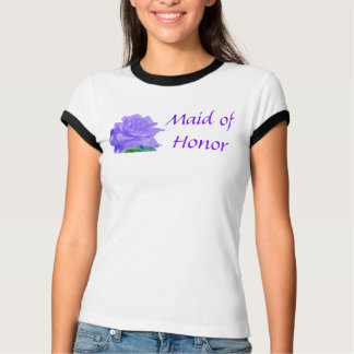 Mauve Tea Rose Ladies Twofer Sheer Fitted T-shirt