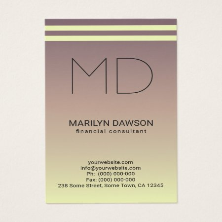 Ombré Mauve to Cream Professional Accountant Business Cards Template