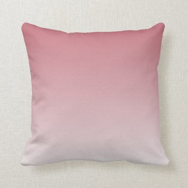 sterlingnights Mauve to White Ombre pink Throw Pillow