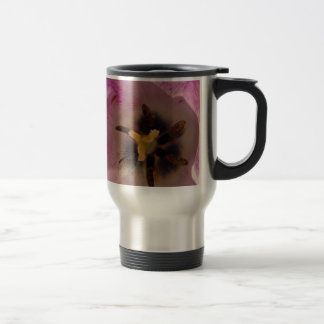 Mauve Tulip Heart Travel Mug