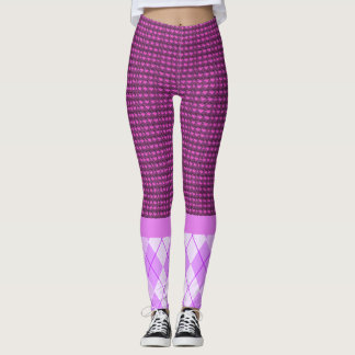 Mauve-Tweed-Pink-Argyle(c)_XS-XL_Leggings_ Leggings