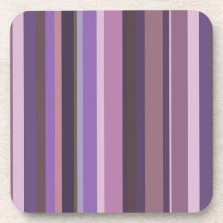 Mauve vertical stripes coaster