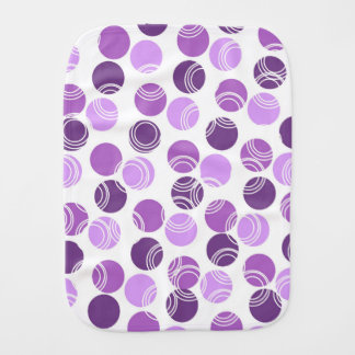 Mauve, Violet Purple, and White Polka Dots, Circle Burp Cloths