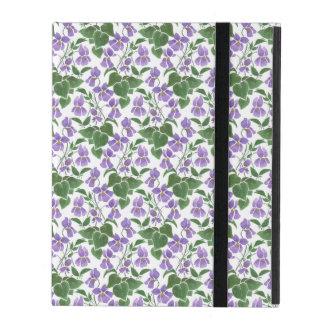 Mauve Violets on White Powis iPad 2/3/4 Case