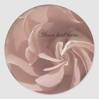 Mauve Wedding Flowers Stickers/ Envelope Seals Classic Round Sticker