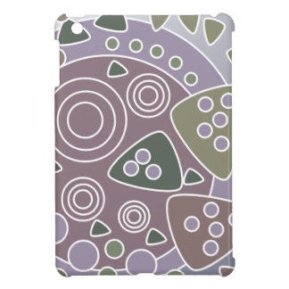 Mauve White Green Abstract Circles Case For The iPad Mini