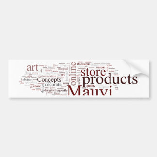 Mauvi Type Bumper Sticker