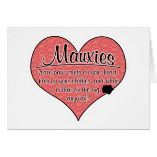 Mauxie Paw Prints Dog Humor Cards