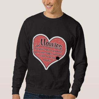 Mauxie Paw Prints Dog Humor Sweatshirt