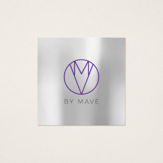 Mave Gray Ombre Business Card 1a