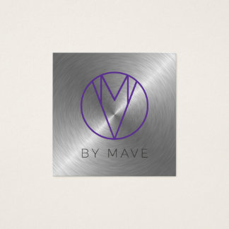 Mave Gray Ombre Business Card 1b