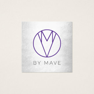 Mave Gray Ombre Business Card 1c