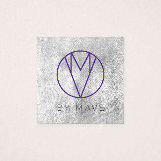 Mave Gray Ombre Business Card 1d