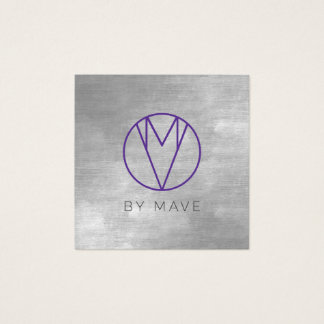 Mave Gray Ombre Business Card 1f