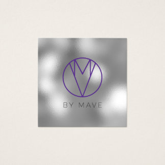 Mave Gray Ombre Business Card 1h