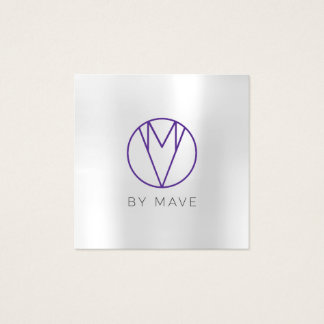 Mave Gray Ombre Business Card 1j