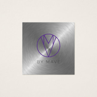 Mave Gray Ombre Business Card 2a