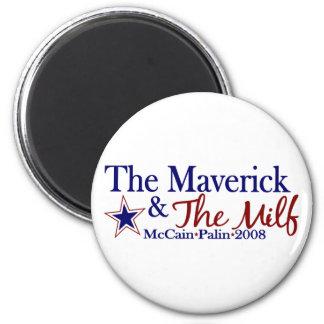 Maverick and Milf (McCain Palin 2008) Magnet