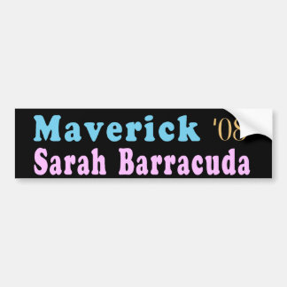 Maverick and Sarah Barracuda Bumper Sticker