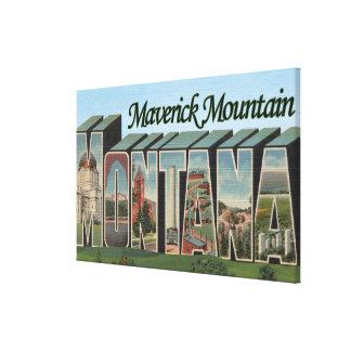 Maverick Mountain, Montana Canvas Print