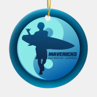 Mavericks -Half Moon Bay (Blue) Christmas Ornaments