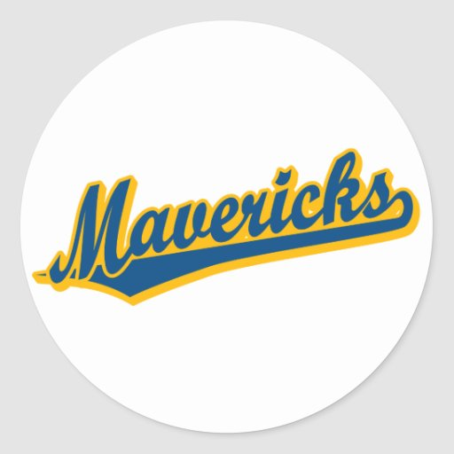 Mavericks in Blue and Gold Sticker