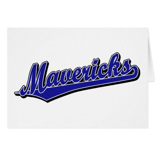 Mavericks in Blue Greeting Card