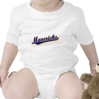 Mavericks in Gold and Blue Rompers