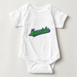 Mavericks in Green and Blue Baby Bodysuit