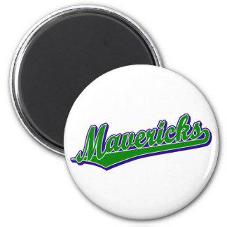 Mavericks in Green and Blue Magnet