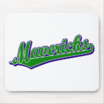 Mavericks in Green and Blue Mouse Pad