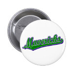 Mavericks in Green and Blue Pinback Buttons