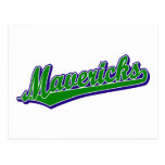Mavericks in Green and Blue Post Card