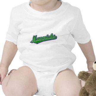 Mavericks in Green and Blue Baby Creeper