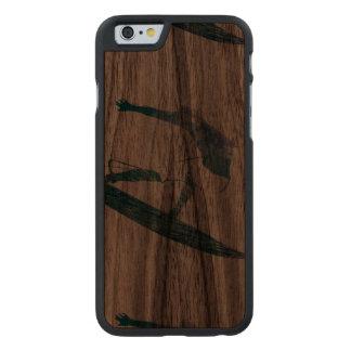 Mavericks - Riding the big One - Surfer Sport Carved Walnut iPhone 6 Slim Case