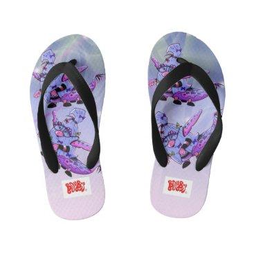 Beach Themed MAVILLA ALIEN MONSTER Flip Flops Kids  Toddler