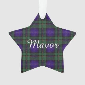 Mavor clan Plaid Scottish kilt tartan Ornament