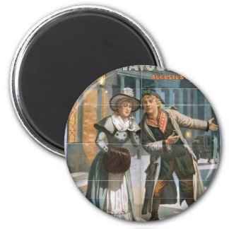Mavourneen, 'The Auld Countrie' Vintage Theater 2 Inch Round Magnet