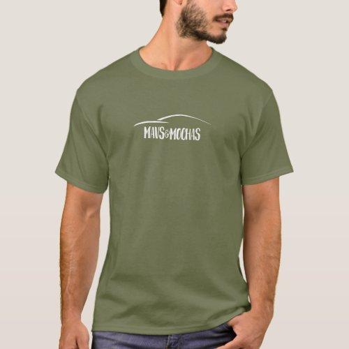 Mavs  Mochas dark centered one line text t_shirt
