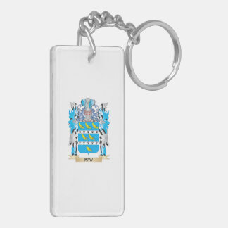 Maw Coat of Arms - Family Crest Double-Sided Rectangular Acrylic Keychain