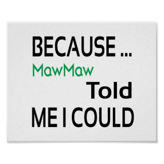 MawMaw Poster (standard picture frame size)