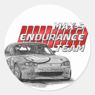 MAX-5 Enduro Team Classic Round Sticker