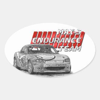 MAX-5 Enduro Team Oval Sticker