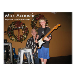 Max Acoustic Poster