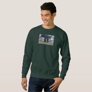 Max and Zorro Sky Sweatshirt (Forest Green)
